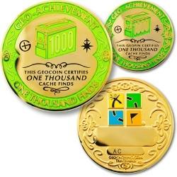 1000 Finds Geo-Achievement Coin & Pin set