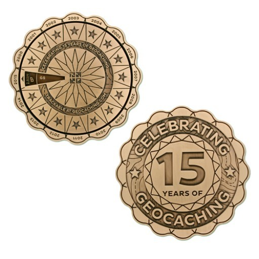 The Ultimate 15 Years of Geocaching Spinner Geocoin