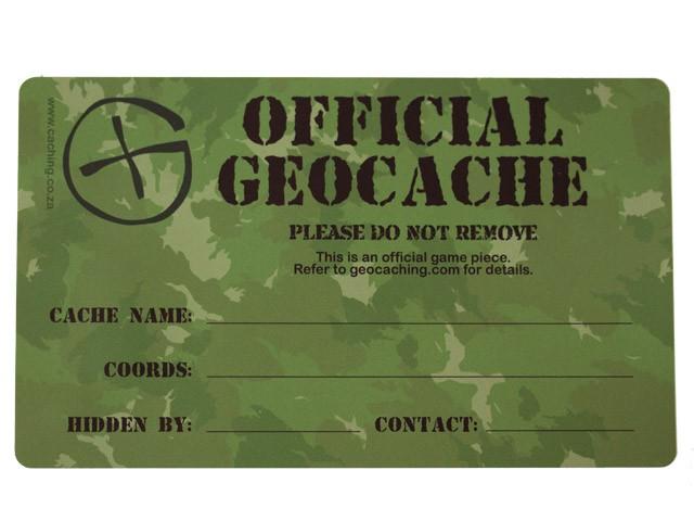 Custom Medium Geocache Label