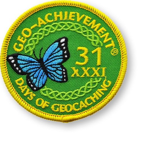 31 Days of Geocaching Geo-Achievement Patch