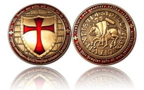Templar Geocoin - Antique Gold