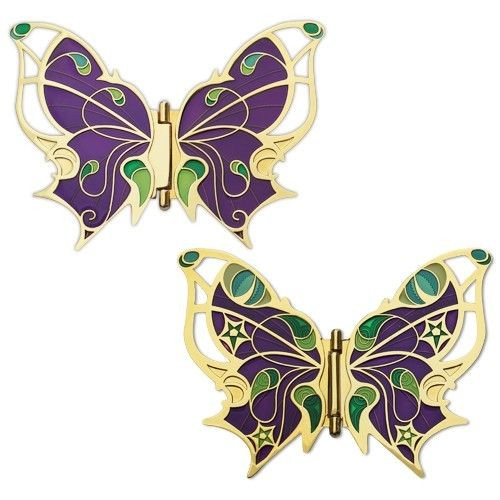 Butterfly Geocoin Gold Version (hinged)