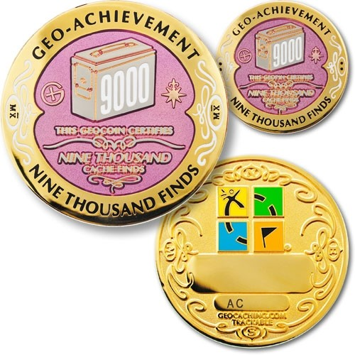 9000 Finds Geo-Achievement Coin & Pin set