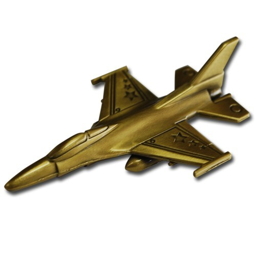 F-16 Fighting Falcon Geocoin- Antique Bronze