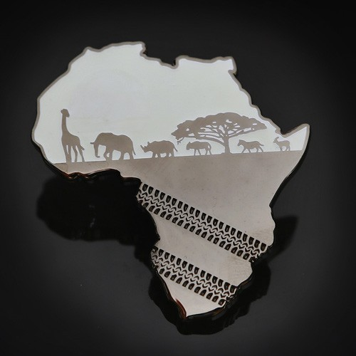 African Safari Geocoin Glow-in-the-dark 2