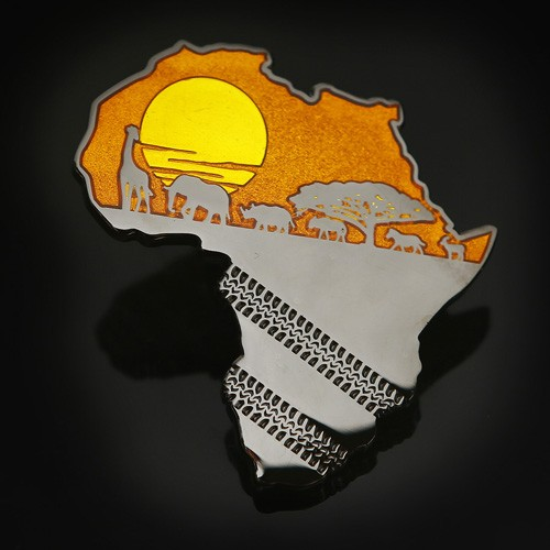 African Safari Geocoin - Orange 1