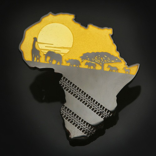 African Safari Geocoin - Yellow 1