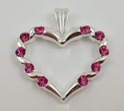 Autumnal Heart Geocoin 2012 - Silver & Pink