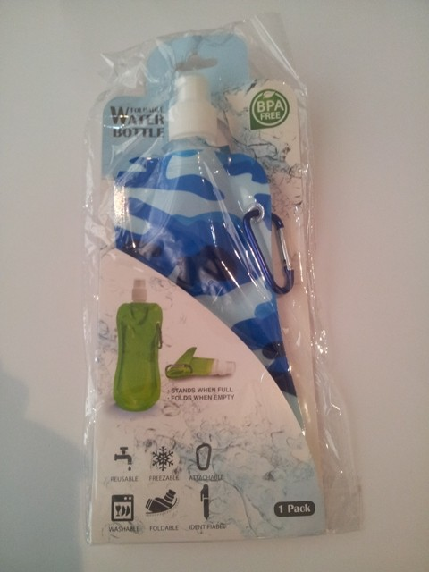 Collapsible Water Bottle - Camo Blue
