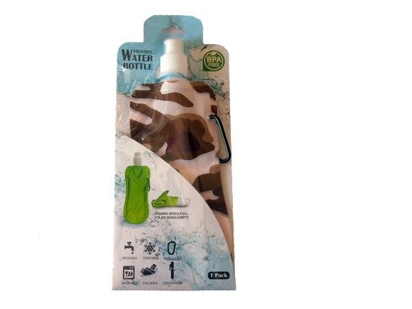 Collapsible Water Bottle - Camo Brown