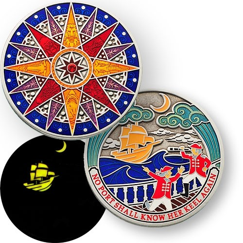 Kalahari Compass Rose Geocoin 2012