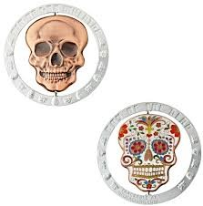 Day of the Dead Spinner Geocoin- Nickel
