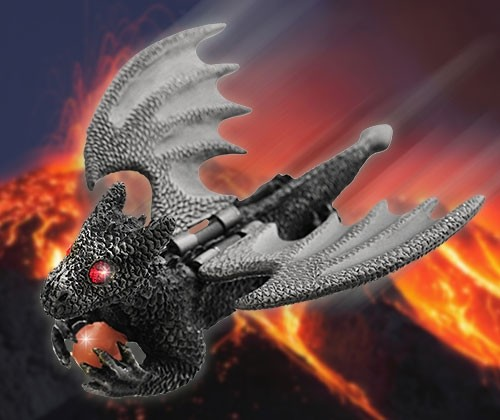 Flying Guardian Dragon - Ash Silver