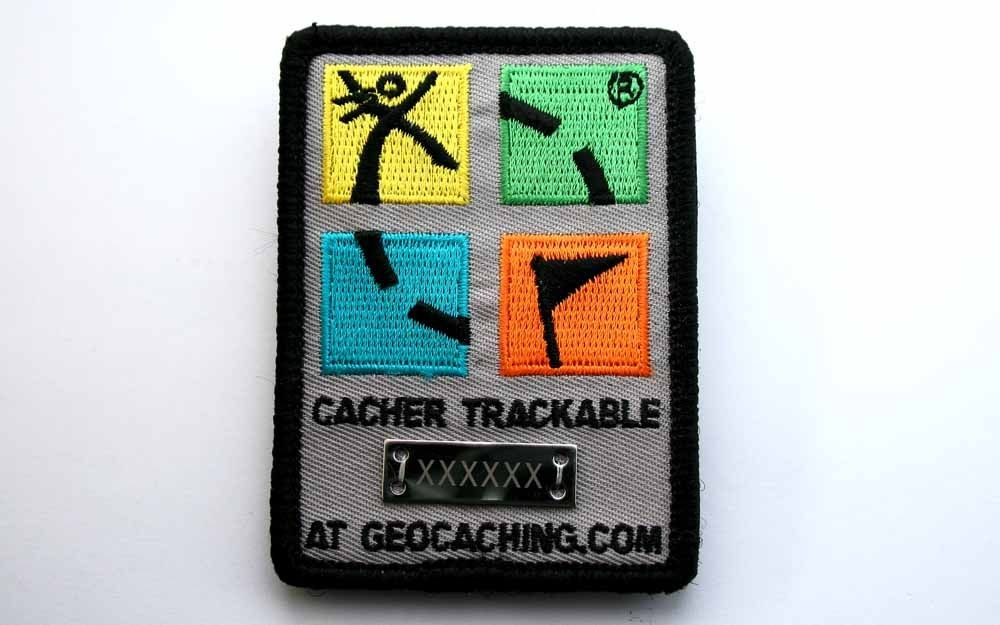 Trackable Geocaching Patch - Full Colour