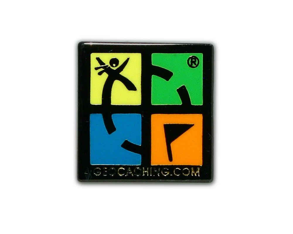 Geocaching.com Pin - Black Nickel