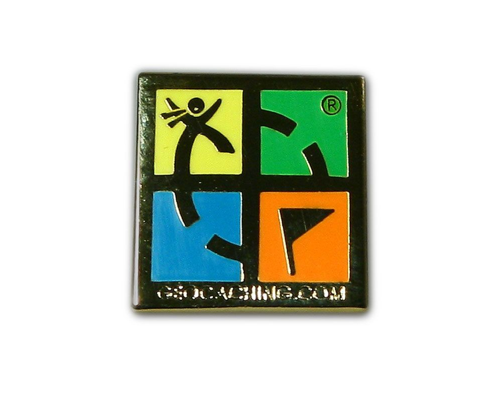 Geocaching.com Pin - Polished Gold
