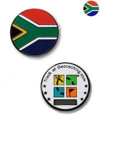 South Africa Flag Micro Geocoin