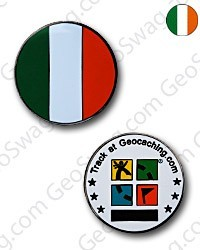 Ireland Flag Micro Geocoin