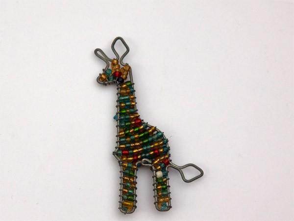 African Colourful Bead & Wire Giraffe