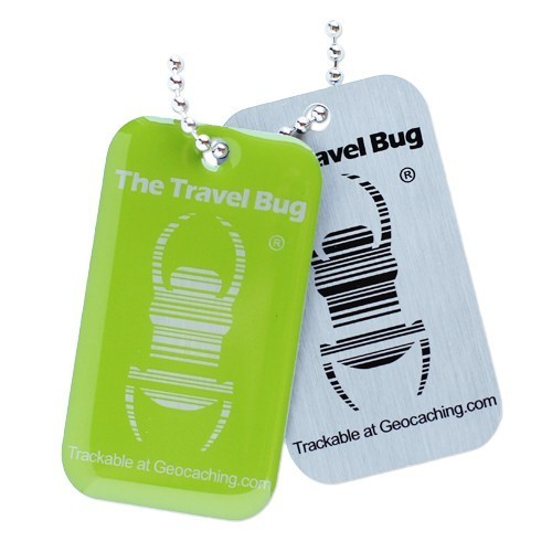 Geocaching QR Travel Bug - Green