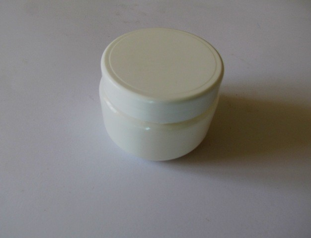 Small Round White Container with Twist on Lid