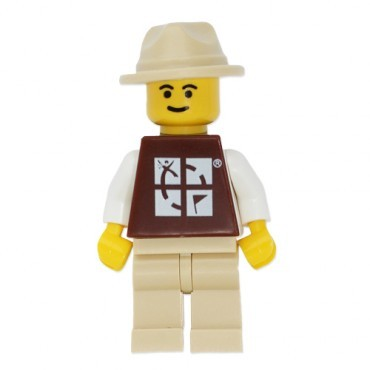 Tan Hat - Geocaching Man Trackable LEGO Figure