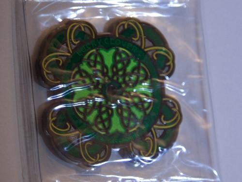 Celtic Lucky Clover Geocoin - Front