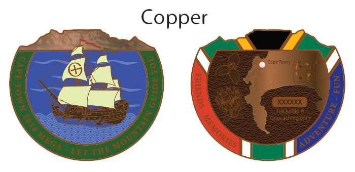 Cape Town Mega 2016 Geocoin - Antique Copper (Limited Edition)
