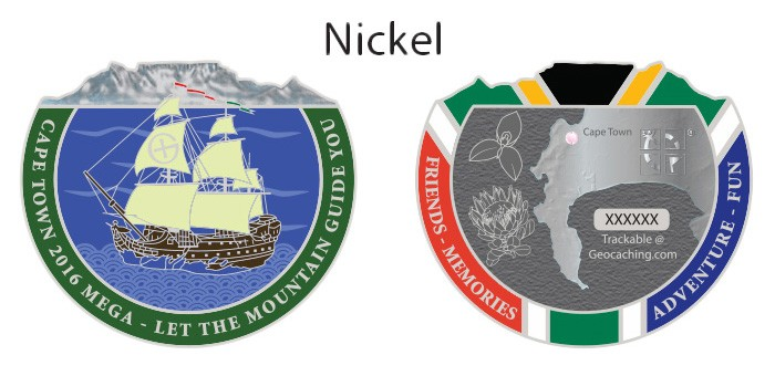 Cape Town Mega 2016 Geocoin - Nickel