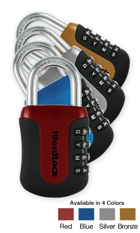 Coloured Sports Lock - WordLock