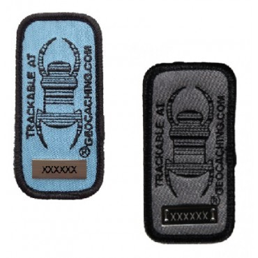 Geocaching Travel Bug Patch - Blue