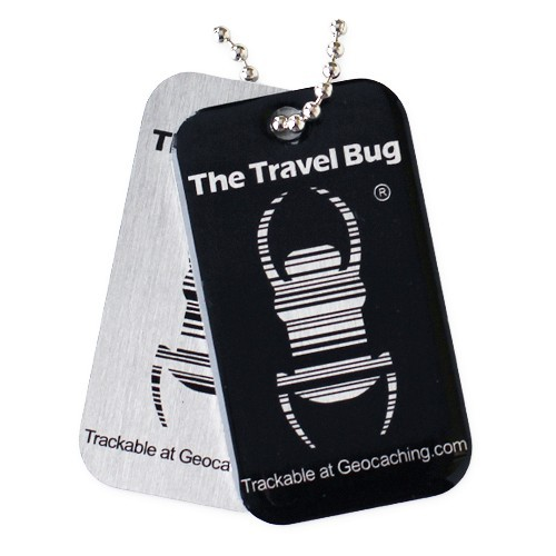 Geocaching QR Travel Bug - Black