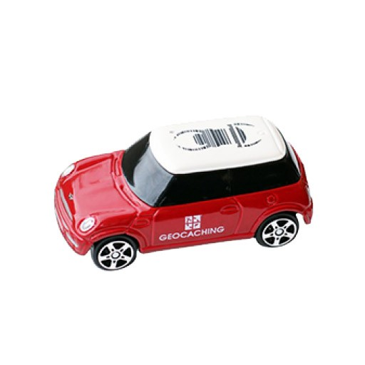 Geocaching Travel Bug Car - Red Mini Cooper
