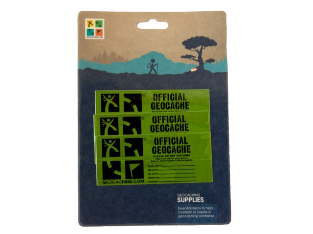 Small Cache Label - 3 Pack - Retail