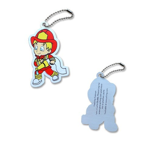 Fred the Fireman Travel Tag