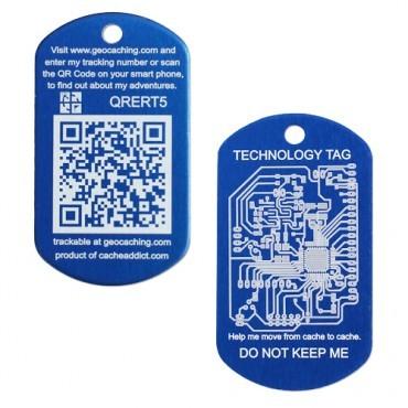 QR Tech Tag - Blue