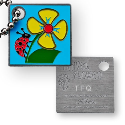 Travel Flower Tag