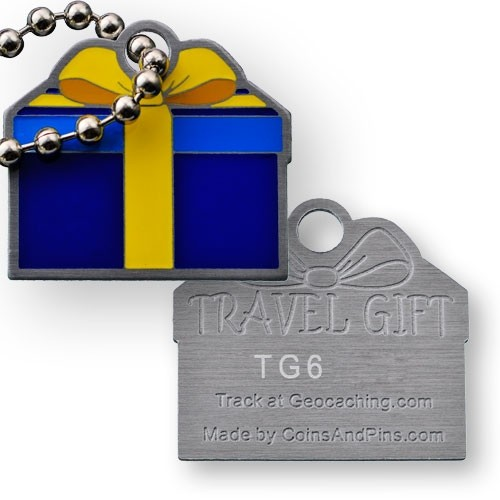 Travel Gift Tag - Blue Yellow