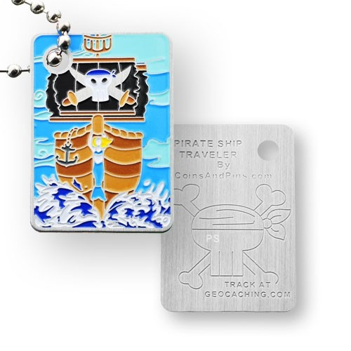 Pirate Ship Traveler Tag