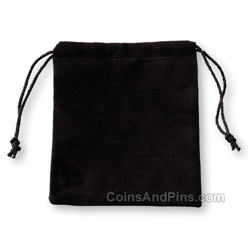 Velvet Coin Pouch - Black