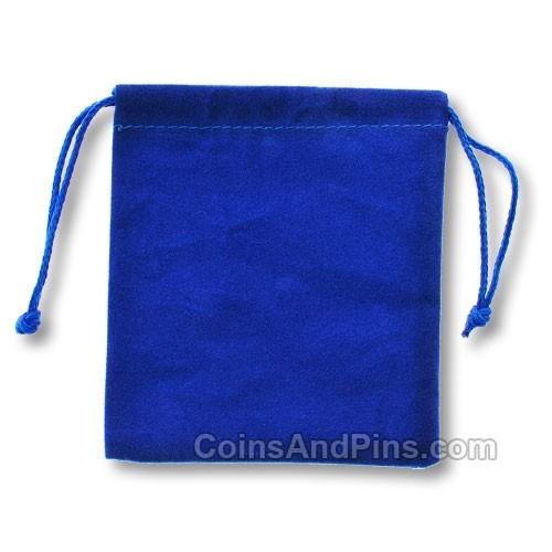 Velvet Coin Pouch - Blue