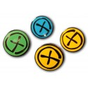 Geocaching Pin - Black Nickel - Blue