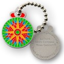 32 Point Micro Compass Rose Geocoin Tag