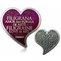 Filigrana Love Geocoin Antique Silver Amethyst