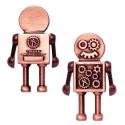 Steampunk Robot Geocoin Antique Copper