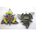 Celtic Triangle Geocoin - Antique Silver
