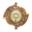 Dragon Spinner ROT13 Geocoin - Antique Gold