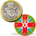 Luck of the Find Geocoin - Antique Silver & Polished Gold
