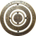 Mayan Spinner Geocoin - Antique Gold
