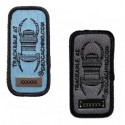 Geocaching Travel Bug Patch - Charcoal